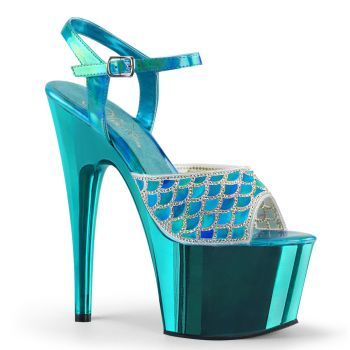 Platform High-Heeled Sandal ADORE-709MMRS - Turquoise