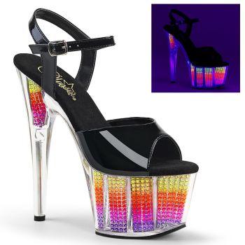 Platform High Heels ADORE-709SRS - Neon Multi