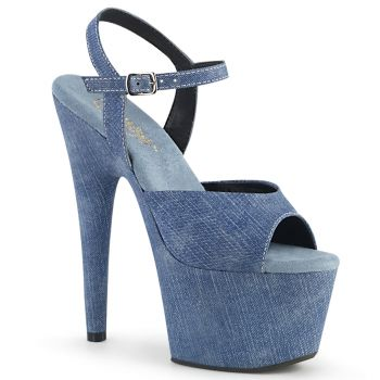 Platform High Heels ADORE-709WR - Denim