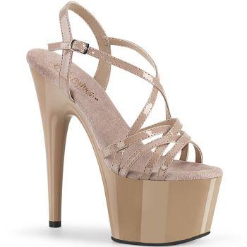 Platform High Heels ADORE-713 - Patent Nude