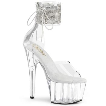 Platform High Heels ADORE-724RS - White/Clear