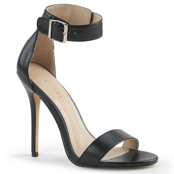 High-Heeled Sandal AMUSE-10 - PU Black