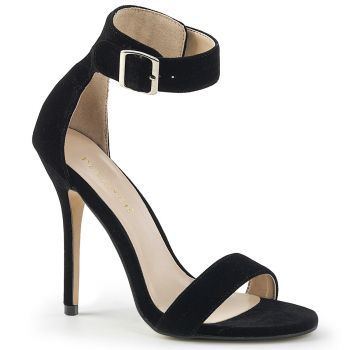 High-Heeled Sandal AMUSE-10 - Velvet Black