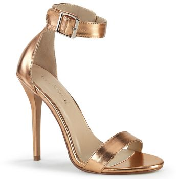High-Heeled Sandal AMUSE-10 - Rose Gold Metallic