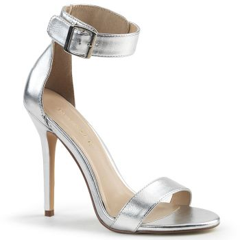 High-Heeled Sandal AMUSE-10 - PU Silver
