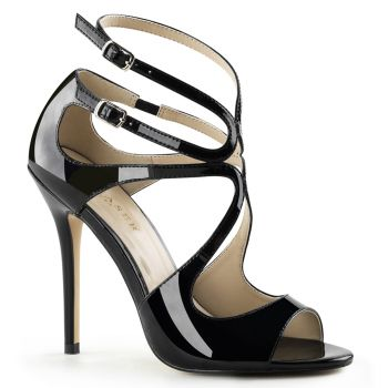 High-Heeled Sandal AMUSE-15 - Patent Black