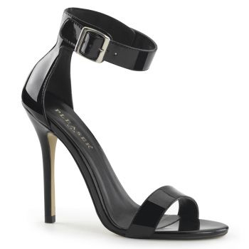 High-Heeled Sandal AMUSE-10 - Patent Black