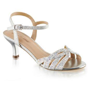 Kitten heel sandals AUDREY-03 - Silver