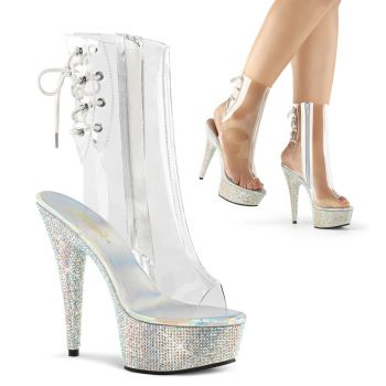 Ankle boots BEJEWELED-1018DM-6 - Clear