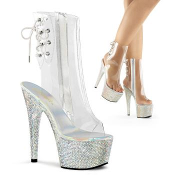 Ankle boots BEJEWELED-1018DM-7 - Clear