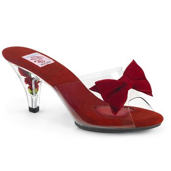 Mules BELLE-301BOW - Clear/Red