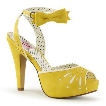 High-Heeled Sandal BETTIE-01 - Yellow