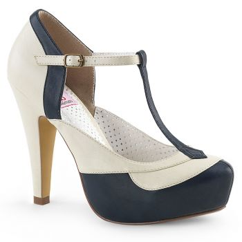 Retro Pumps BETTIE-29 - Blue/Cream