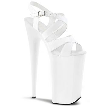 Extreme Platform Heels BEYOND-097 - Patent White