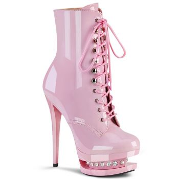 Platform Ankle Boots BLONDIE-R-1020 - Patent Baby Pink