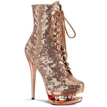 Platform Ankle Boots BLONDIE-R-1020 - Rose Gold