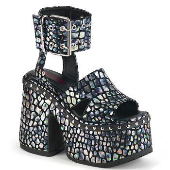 Gothic Sandal CAMEL-102 - Black/Silver