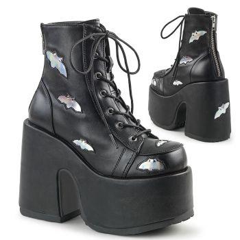 Gothic booties (Vegan) CAMEL-201 - Black
