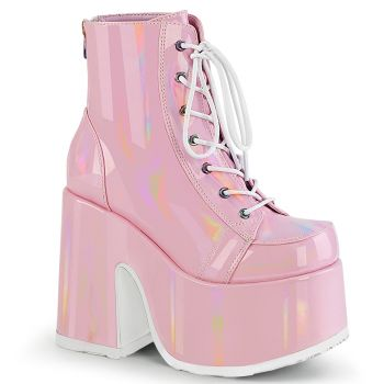 Gothic Booties  CAMEL-203 - Baby Pink Hologram