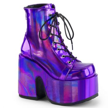 Gothic Booties (Vegan) CAMEL-203 - Purple