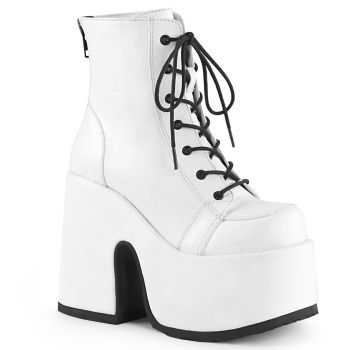 Gothic Booties (Vegan) CAMEL-203 - White