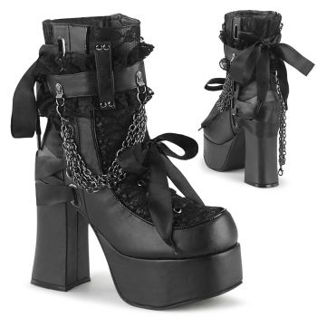 Gothic Lace-Up Boots (Vegan) CHARADE-110