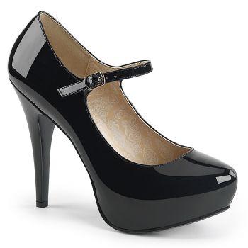 Platform Mary Janes CHLOE-01 - Patent Black