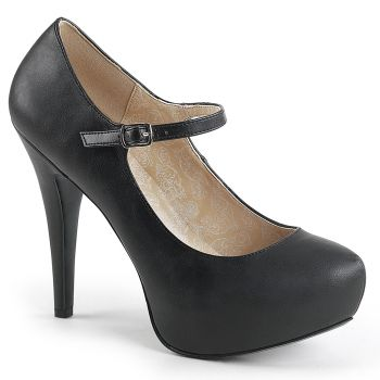 Platform Mary Janes CHLOE-01 - Black