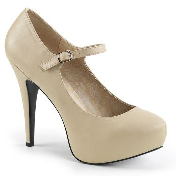 Platform Mary Janes CHLOE-01 - Cream