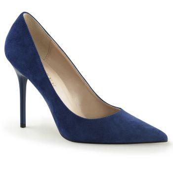 Stiletto Pumps CLASSIQUE-20 - Suede Blue
