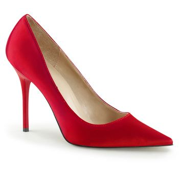 Stiletto Pumps CLASSIQUE-20 - Satin Red