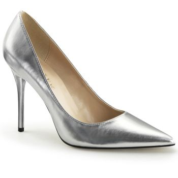 Stiletto Pumps CLASSIQUE-20 - PU Silver Metallic