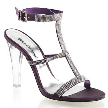 High-Heeled Sandal CLEARLY-418 - Eggplant*