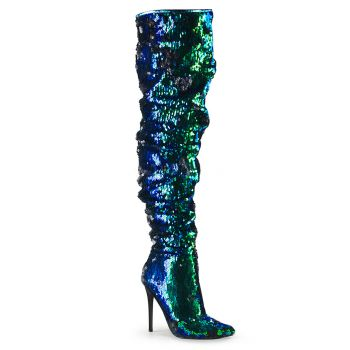 Overknee Boot COURTLY-3011 - Green iridescent