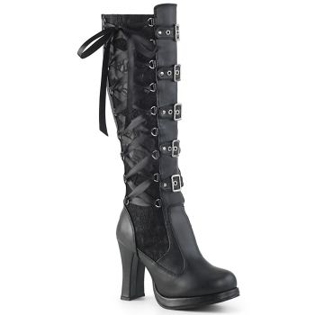 Gothic Women Boots CRYPTO-106 - Black