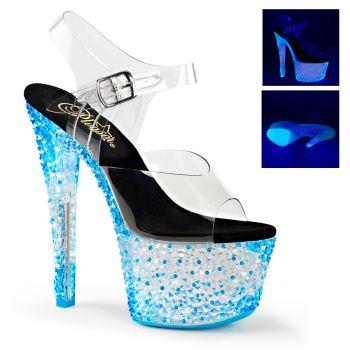 Platform Heels CRYSTALIZE-308PS - Blue