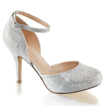 D'Orsay Pumps COVET-03 - Silver*