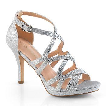 High-Heeled Sandal DAPHNE-42 - Silver
