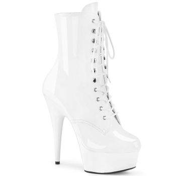 Platform Ankle Boots DELIGHT-1020 - Patent White