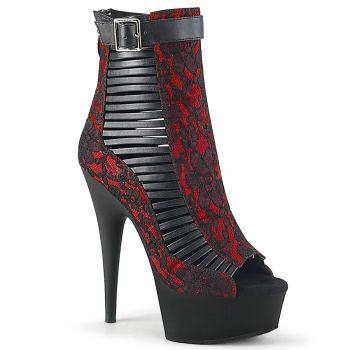 Platform Ankle Boots DELIGHT-600-27LC - Black / Red