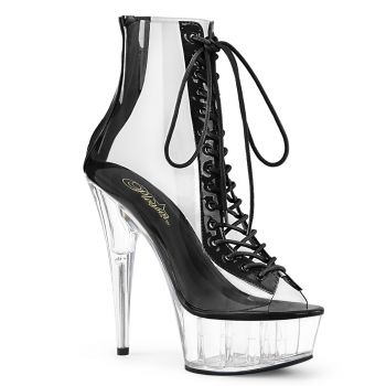 Platform Ankle Boots DELIGHT-600-34 - Clear/Black