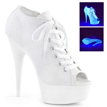 Canvas High Heel Sneakers DELIGHT-600SK-01 - White