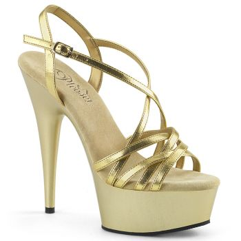 Platform High-Heeled Sandal DELIGHT-613 - Gold
