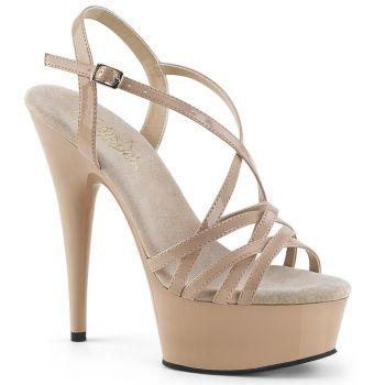 Platform High-Heeled Sandal DELIGHT-613 - Nude*