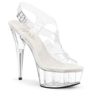 Platform High Heels DELIGHT-630 - Clear