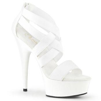 Platform High Heels DELIGHT-669 - White