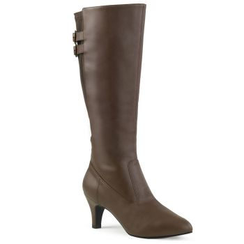 Boots DIVINE-2018 - PU Brown