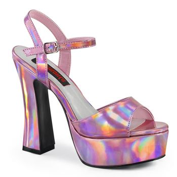 Platform High-Heeled Sandal DOLLY-09 -  Pink Hologram