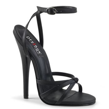Extreme High Heels DOMINA-108 - PU Black