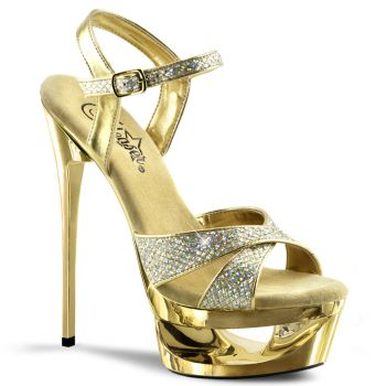 Platform Sandals ECLIPSE-619G - Gold/Gold Glitter